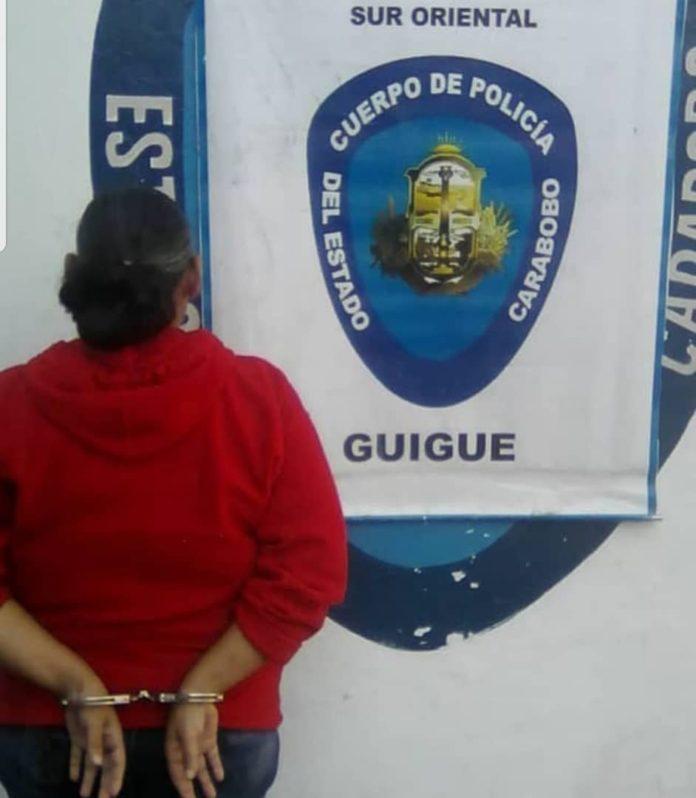Vendió a su hija recién nacida y la Policía de Carabobo la capturó