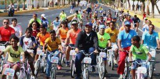 Activan ciclo vía en Coro durante toma deportiva por la Paz y la Vida
