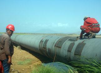 Sustituyen 887 metros de tubería en el sector La Encrucijada – La Salineta