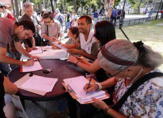 Oficialistas recolectan firmas en contra de acciones injerencistas de EEUU
