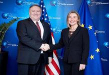 Mogherini y Pompeo defienden elecciones para vuelta al orden en Venezuela