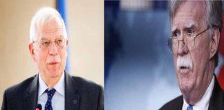 Venezuela entre los temas tratados en la reunión entre Borrell y Bolton