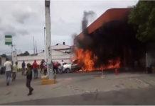 Vehículo se prendió en candela en una bomba de Lara (+Video)