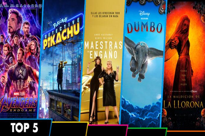 Avengers: Endgame domina la taquilla mundial en el top 5