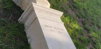 Vandalizan busto de Simón Bolívar en el Monte Sacro en Roma