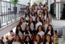 El Miss Venezuela presentó a sus candidatas y ya rodó la primera por las escaleras (+Foto)