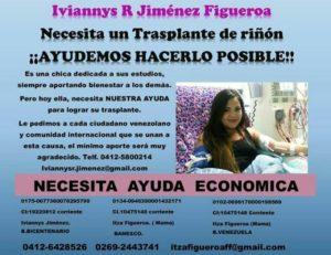 Servicio Público| Joven paraguanera pide ayuda para trasplante de riñón