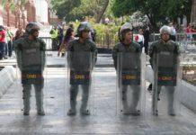 La GNB permitió el ingreso a la prensa al Palacio Legislativo a propósito de la visita de Bachelet