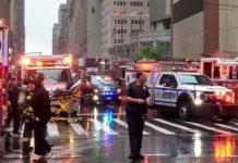 Helicóptero se estrella, techo de rascacielos, Nueva York, Estados Unidos, Internacionales