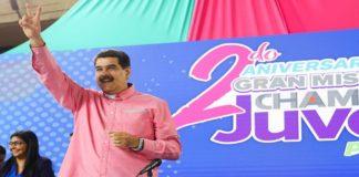 Maduro celebra 2° aniversario de Chamba Juvenil