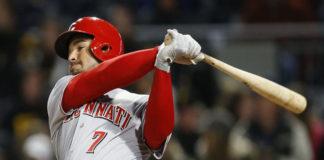 Venezolano Eugenio Suárez conecta el jonrón más largo de Cincinnati en la temporada