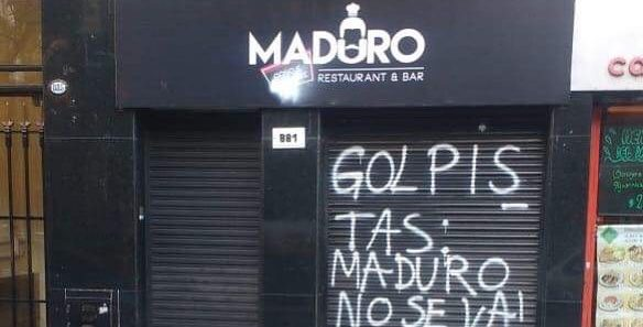 """Me amenazaron"", dijo el dueño del restaurante ""Maduro c#ñ# e tu madre"""