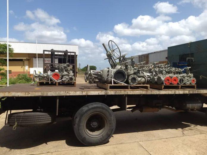 Entregan a refinerías de PDVSA más de mil válvulas recuperadas