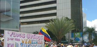 Oposición comienza concentración y marcha este 5 de julio