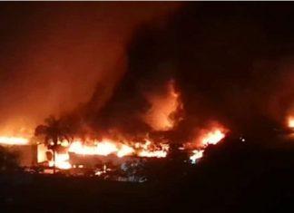 Se incendia empresa de Galletas Puig en Aragua