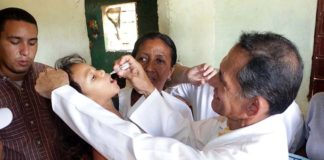 Comenzó en Falcón Jornada de vacunación contra la poliomielitis