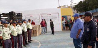 Alcalde Pablo Acosta entregó dotación a Polimiranda