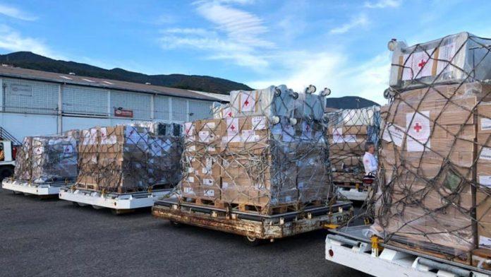 34 toneladas de insumos médicos arribó a Venezuela