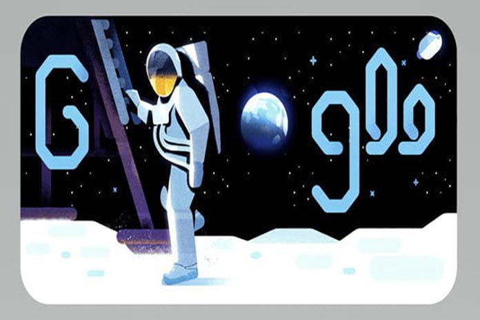 Google celebra los 50 años la llegada del hombre a la Luna con este interactivo Doodle