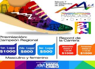 Entre 100 y mil dólares recibirán los ganadores de la Media Maratón Maracaibo 2019