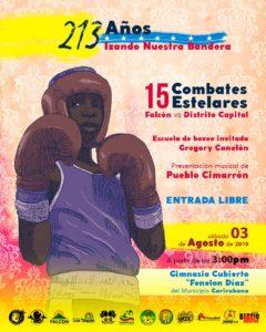 Gran encuentro de Boxeo Falcón vs Distrito Capital con más de 15 combates estelares