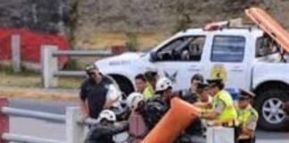 Venezolano se lanzó de un puente cuando intentaba llegar a Quito