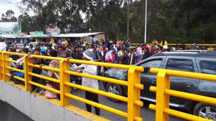 Venezolanos protestaron de nuevo en frontera ecuatoriana (+Videos)