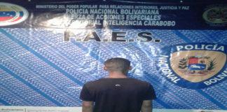 En Carabobo Faes detuvo a microtraficante de sustancias ilícitas