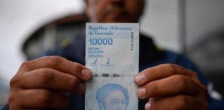 En Video: Un cliente recibió un billete de Bs. 10.000 mal impreso