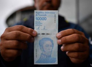 En Video: Un cliente recibió un billete de Bs. 10.000 mal impreso