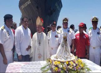 Zodimainoc celebró misa y procesión marítima en honor a la Virgen del Valle