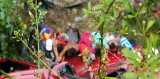 Camioneta cae en un barranco y deja un muerto y dos heridos en la ARC