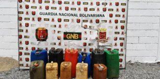 GNB incautó 470 de gasolina en deposito clandestino en San Juan de Lagunillas