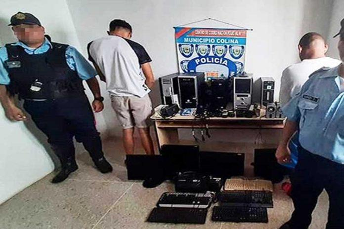 Polifalcón detiene a dos hombres y recupera computadoras robadas de la UNEFM
