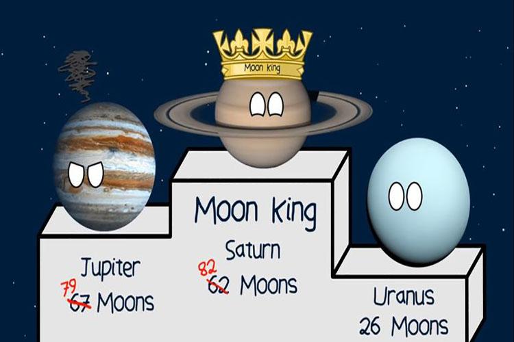 Saturno tiene 20 lunas y es el planeta con más satélites naturales