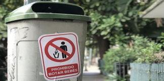 ¡Prohibido botar bebés!, mensaje viral en contenedores de basura en Caracas
