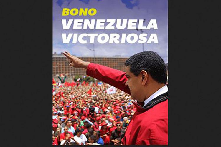 """Nuevo bono """"Venezuela victoriosa"""" por Bs. 75 mil"""