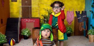 Los hijos de Chyno Miranda y Marko Music en la vecindad del Chavo (+Fotos)