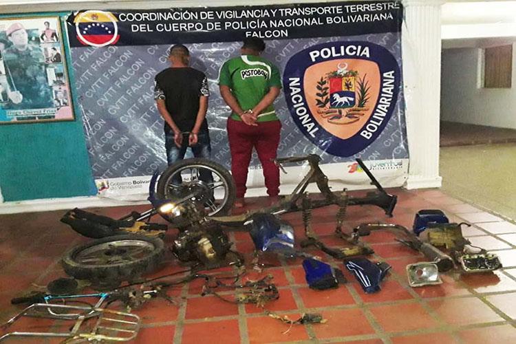 Ladrones y picadores de moto son detenidos en La Vela