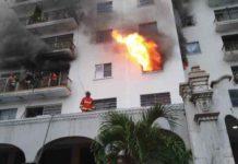 Se registra un incendio en un apartamento en pleno centro de Caracas