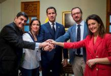 Guaidó se reunió con delegación del PP de España en la AN