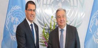 Arreaza sostuvo reunión con secretario General de la ONU