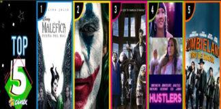 """""""Maléfica: Dueña del mal"""" se mantiene en lo más alto del Top 5"""
