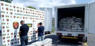 Más de ocho toneladas de azúcar colombiana es retenida en peaje Zea de Mérida