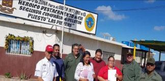 Comité acuático de pesca y combustible de Falcón realiza entrega de baterías a Pdvsa