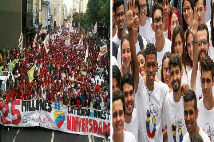 Conozca las rutas de las marchas de los universitarios opositores y oficialistas