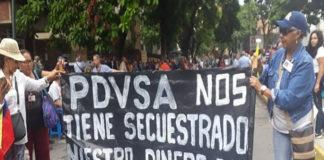 Protestaron en la Campiña jubilados de Pdvsa y Pequiven