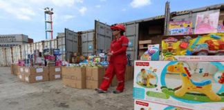269 contenedores de juguetes llegaron al Puerto de La Guaira