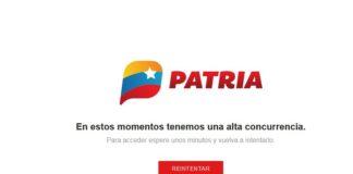 Reportan caída de la página Patria