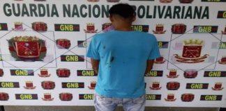 Mérida: GNB atrapa microtraficante de droga en Ejido
